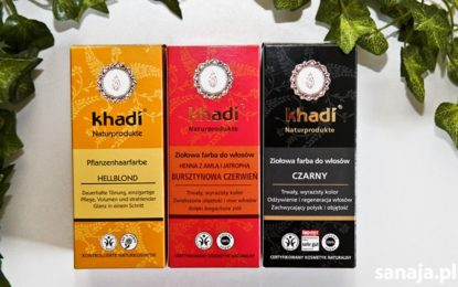 ziołowe farby do włosów khadi - sanaja